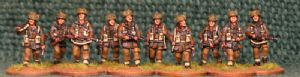 20mm, WW2 British Infantry BAF1 AB 10 figures